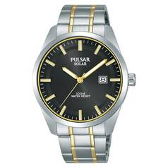 Pulsar Men's Solar Powered Two Tone Stainless Steel Watch