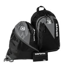 Carbrini 3 Piece Backpack Set - Black