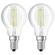 Osram 40W Filament LED Glass Globe SES Bulb - Twin Pack