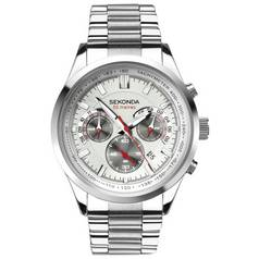 Sekonda Men's Dual Time Stainless Steel Bracelet Watch