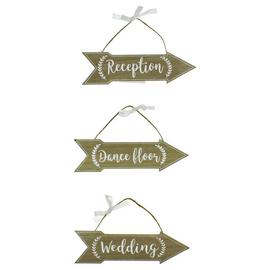 Love Story Wedding Signs - Set of 3