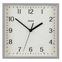Jones Pop Square Wall Clock - Grey