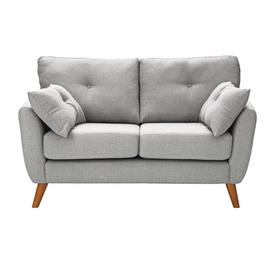 Argos Home Kari 2 Seater Fabric Sofa - Light Grey