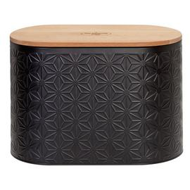 Good Housekeeping Textured Bread Bin - Black