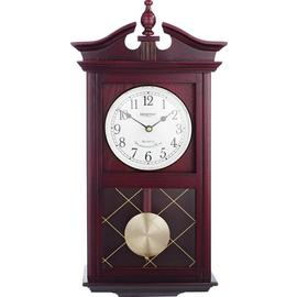 Argos Home Regulator Pendulum Wall Clock - Dark Oak Effect
