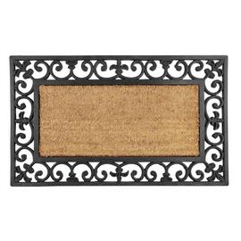 Argos Home Coir and Rubber Doormat - 45x75cm
