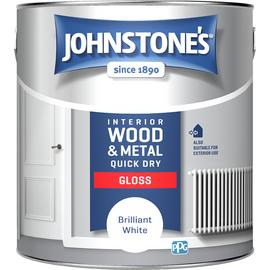 Johnstone's Quick Dry Gloss Paint 2.5 Litre - White