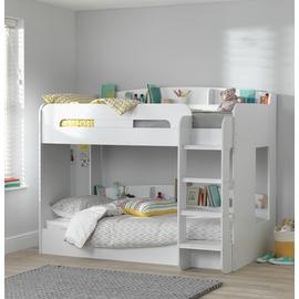 Argos Home Ultimate White Bunk Bed & 2 Kids Mattresses