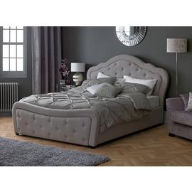 Argos Home Venice Kingsize Bed Frame with End Drawer - Grey
