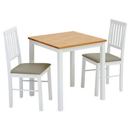 Argos Home Kendal Solid Wood Dining Table & 2 Chairs