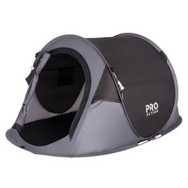 Pro Action Pop Up 2 Man Tent - Black