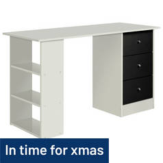 Argos Home Malibu 3 Drawer Desk