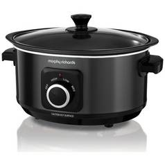 Morphy Richards Evoke 3.5L Sear and Stew Slow Cooker - Black