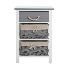 Argos Home Isabelle 1 Drawer & 2 Basket Storage Unit - Grey