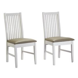 Argos Home Paris Pair of Skirted Dining Chairs - White