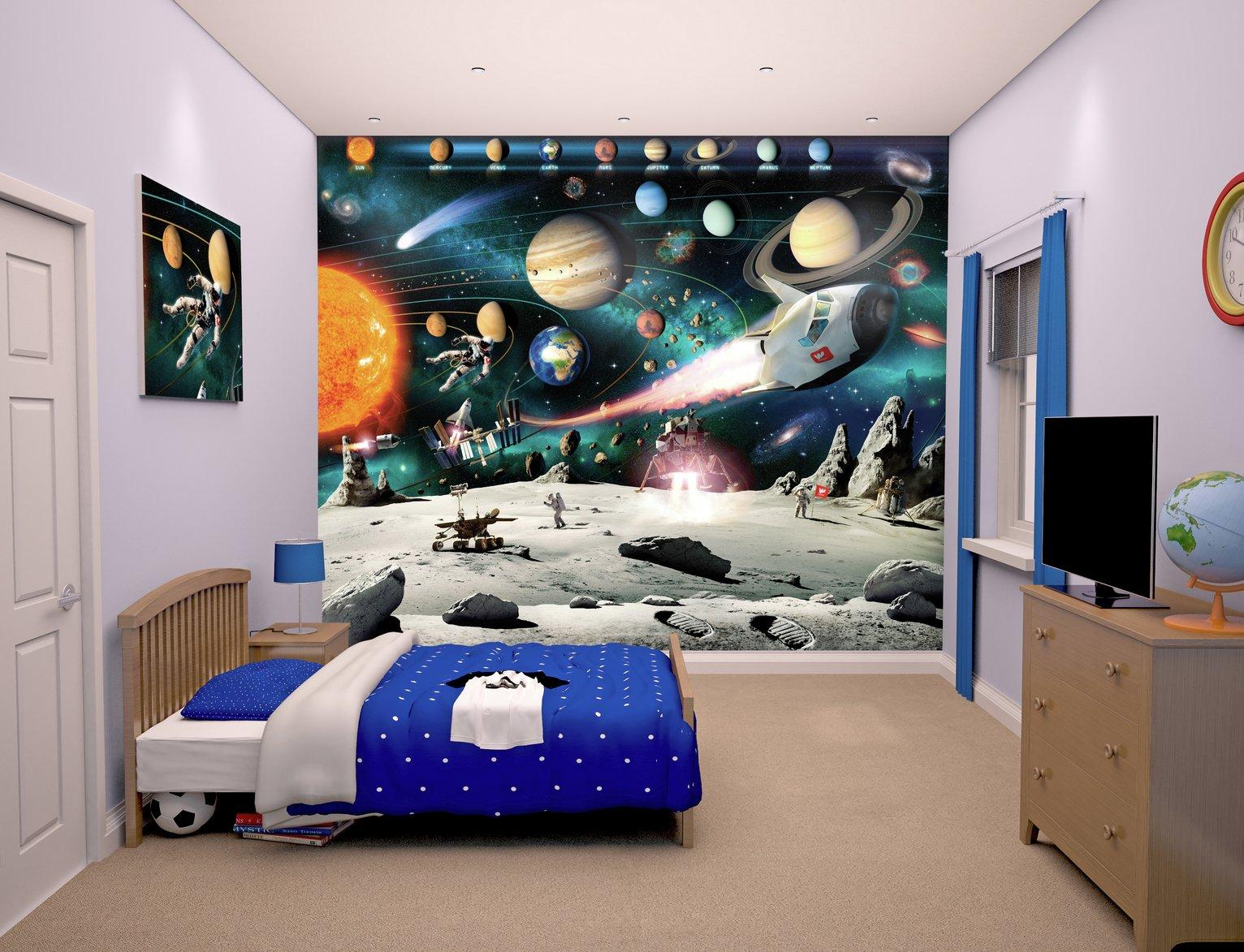Nice Walltastic Space Adventure Wallpaper Mural