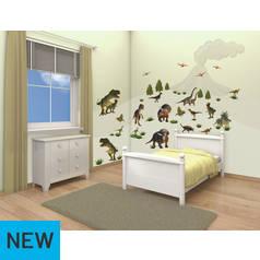 Wallpaper argos walltastic dinosaur land room decor kit gumiabroncs Choice Image