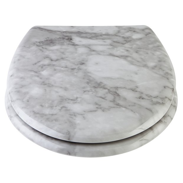 Surprising Buy Argos Home Marble Design Toilet Seat White Toilet Seats Argos Gamerscity Chair Design For Home Gamerscityorg