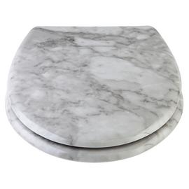 Argos Home Marble Design Toilet Seat - White