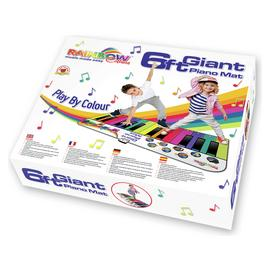 Rainbow Colours 6ft Giant Piano Mat