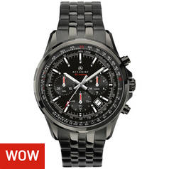 Accurist Men's Black IP Stainless Steel Bracelet Watch