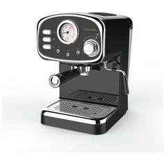Cookworks Espresso Coffee Machine with Frother - Black