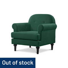 Argos Home Whitney Velvet Armchair - Green