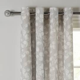 Argos Home Honesty Lined Eyelet Curtains - Grey