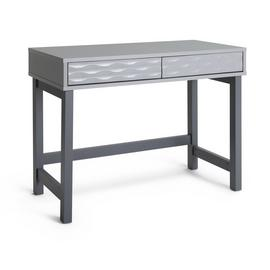 Argos Home Zander 2 Drawer Desk - Grey Two Tone