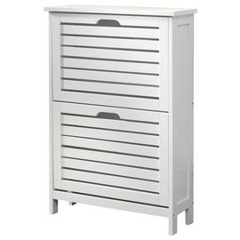 Bergen 2 Tier Shoe Cabinet - White