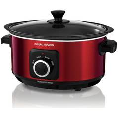 Morphy Richards Evoke 3.5L Sear and Stew Slow Cooker - Red