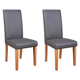 Argos Home Pair of Midback Dining Chairs - Charcoal