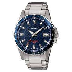 Casio Men's Classic Blue Dial Stainless Steel Bracelet Watch