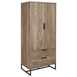 Habitat Nomad 2 Door 2 Drawer Wardrobe - Oak Effect