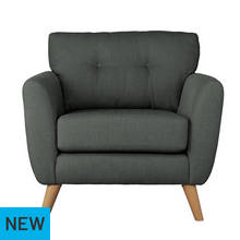 Argos Home Kari Fabric Chair - Charcoal