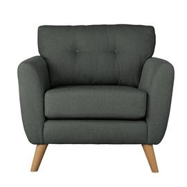 Argos Home Kari Fabric Armchair - Charcoal