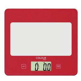 Argos Home Square Digital Kitchen Scale - Poppy Red