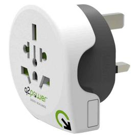 Q2Power World to UK Travel Adapter