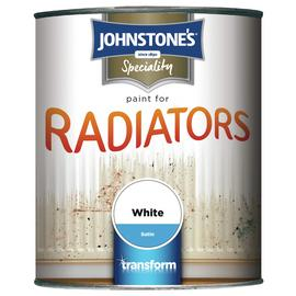 Johnstone's Radiator Satin Paint 750ml - White