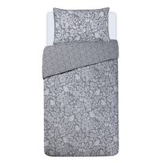 Argos Home Grey Woodcut Bedding Set - Single