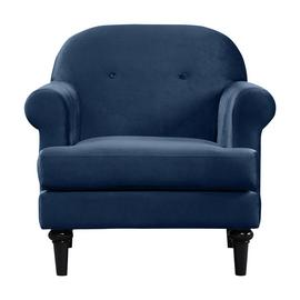 Argos Home Whitney Velvet Armchair - Blue