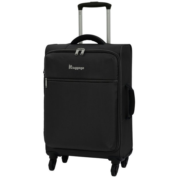 Buy IT Luggage The LITE 4 Wheel Soft Cabin Suitcase - Black ... 5b2d9f0e70a5
