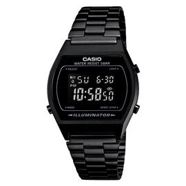 Casio Ladies' Digital Black Stainless Steel Bracelet Watch