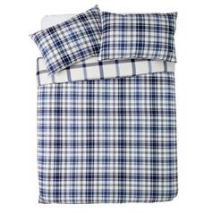 Sainsbury's Home Brushed Check Bedding Set - Double
