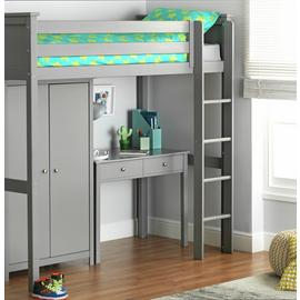Argos Home Brooklyn Grey High Sleeper Package