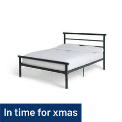 Argos Home Avalon Double Bed Frame - Black