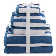 Argos Home 6 Piece Towel Bale - Sea Stripe