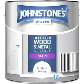 Johnstone's Quick Dry Satin Paint 2.5L - Brilliant White