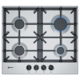Neff T26DS49N0 Cast Iron Support Gas Hob - Stainless Steel