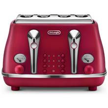 De'Longhi Elements 4 Slice Toaster - Red